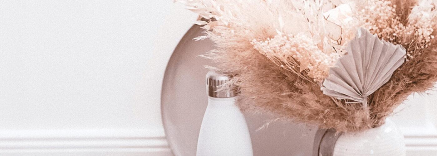 フラスクボトル500mlのホワイトのイメージ画像